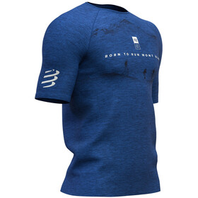 Compressport Training Mont Blanc 2019 SS T-Shirt Men, blue